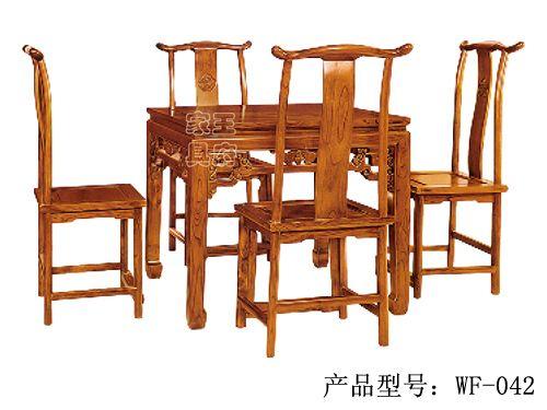 香河古典餐厅桌椅厂家wf-042