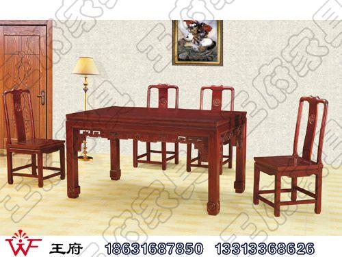 香河老榆木餐厅桌椅定做CTZY-5