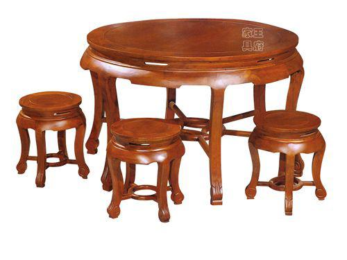 香河老榆木餐厅桌椅定制WF餐桌005