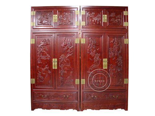 天津古典卧室衣柜制作YG-14