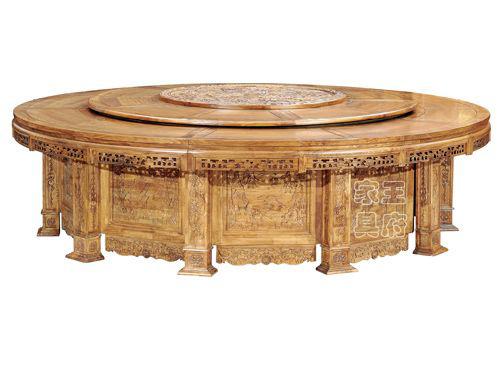 仿古中式电动餐桌WF餐桌001