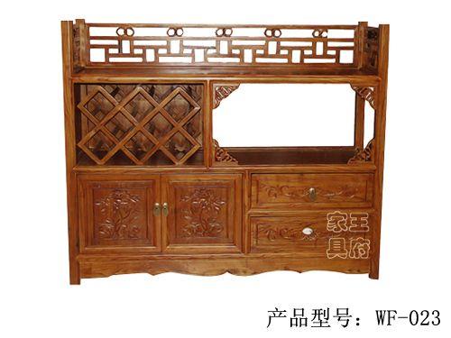 酒店会所老榆木备餐柜wf-023