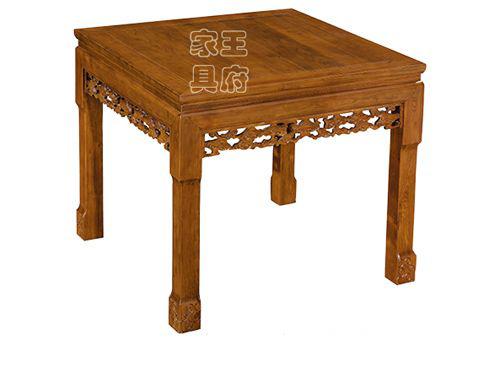 香河老榆木餐桌图片WF餐桌009