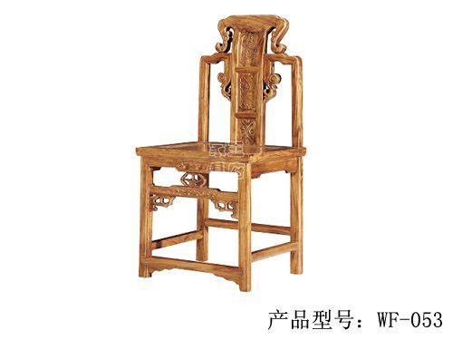 天津仿古餐厅座椅wf-053