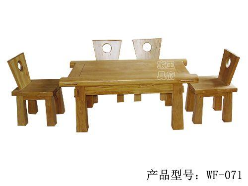 仿古中式中餐桌椅厂家wf-071