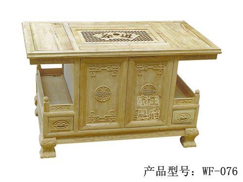 香河老榆木茶台批发wf-076