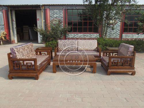 中式老榆木沙发批发wf-086