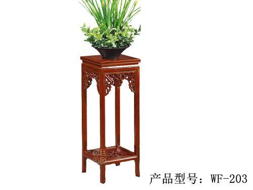 明清榆木花架定做wf-203