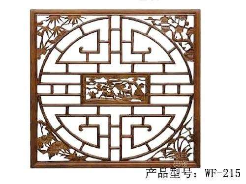 香河榆木隔扇批发wf-215