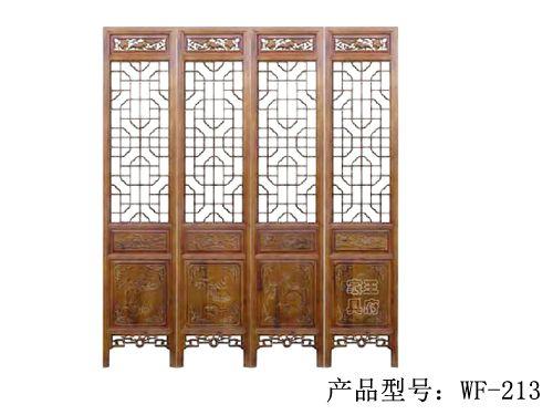 天津榆木隔扇厂家wf-213