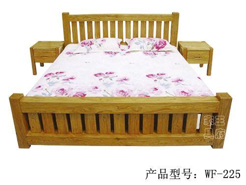 北京老榆木客厅床wf-225