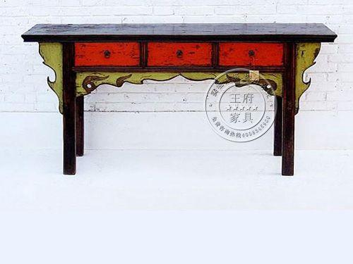 中式彩绘榆木家具