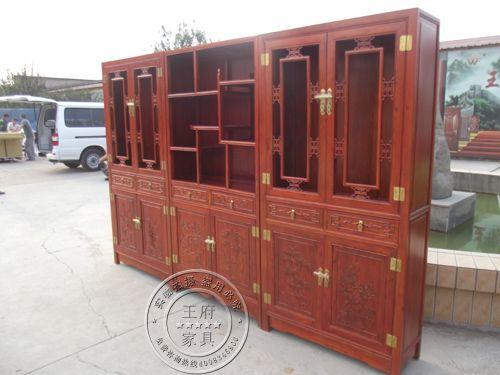 香河老榆木中式仿古书柜家具厂