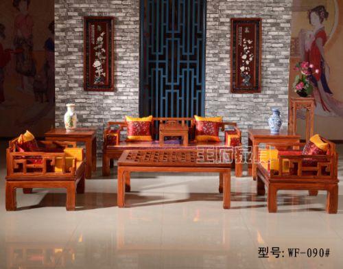 回纹中式老榆木沙发