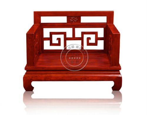 中式回纹老榆木沙发