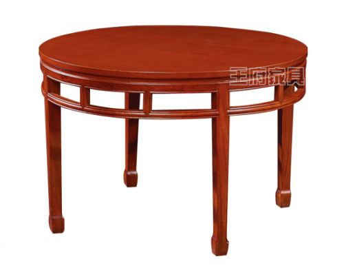 老榆木圆餐桌