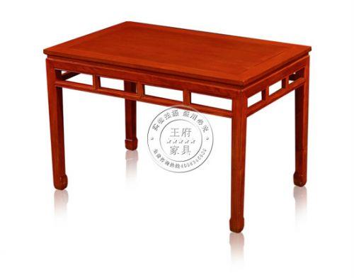 老榆木长方餐桌
