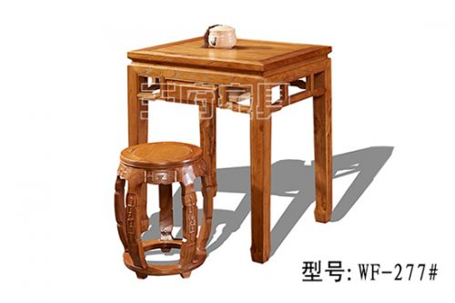 仿古老榆木餐桌椅