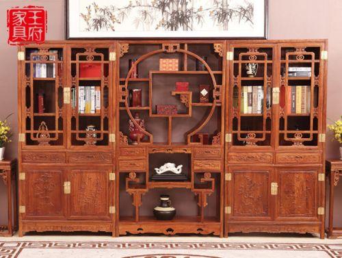老榆木书柜