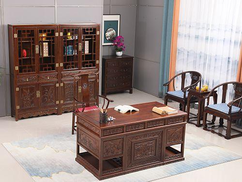 直腿字台及书柜两件套
