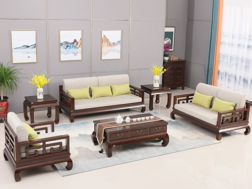 老榆木新中式沙发