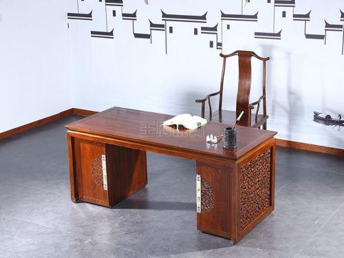 新中式老榆木书桌