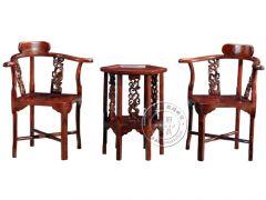 香河中式老榆木圈椅厂家wf-070