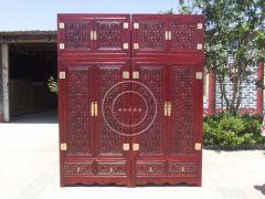 北京仿明清古典雕刻衣柜wf-138
