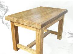 榆木大料方腿风化纹餐桌wf-235