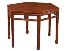 木质明式六角桌