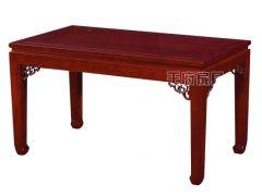 老榆木长方餐桌WF餐桌010
