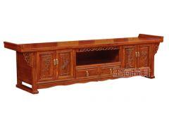 老榆木中式实木电视柜