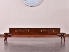 新中式老榆木电视柜