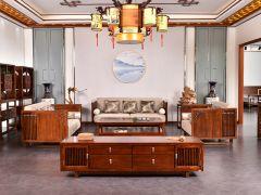 榆木新中式沙发图片价格