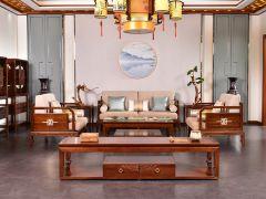 老榆木新中式客厅沙发
