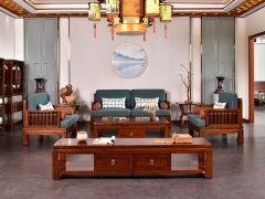 新中式老榆木沙发
