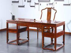 仿古实木书桌