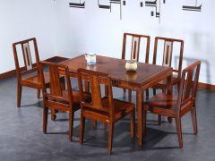 新中式老榆木餐桌椅