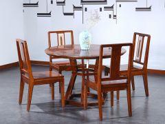 新中式榆木圆餐桌