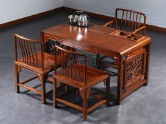 老榆木新中式实木茶桌