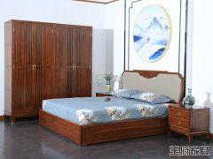 新中式榆木床