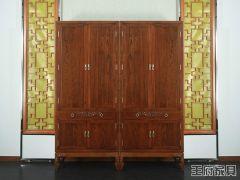 新中式榆木家具衣柜