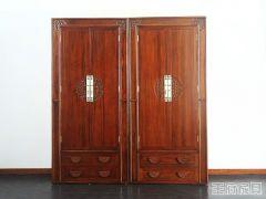 新中式榆木衣柜