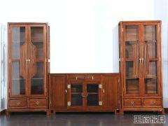 新中式榆木书柜