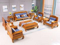 榆木东境沙发十一件套
