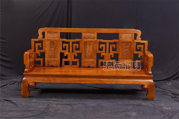 香河客厅榆木沙发六件套