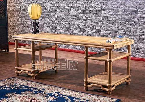 烤漆老榆木书法桌和免漆老榆木书法桌的区别