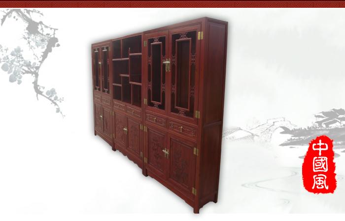 产品介绍: 此款书柜型号:wf-132,此款产品为书柜多宝阁,典型的中式仿古书柜,书柜中间的多宝阁可加背板也可不加,书柜柜门雕花为梅兰竹菊,书柜上半部分有两层隔板,书柜与多宝阁的搭配功能性更强,整体效果美观大方,喜欢此款产品的客户可随时与我们联系。