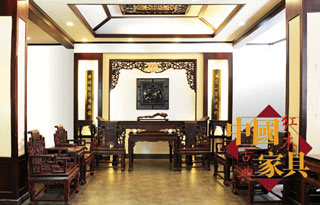 中式古典仿古中堂家具效果图图片